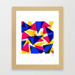 CMYK Shard Framed Art Print