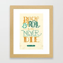 Rock & Roll Can Never Die - Neil Young Framed Art Print