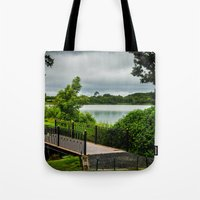 bridge Tote Bags featuring Bridge  by Ashley Hirst Photography