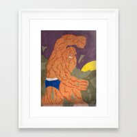 the thing Framed Art Prints featuring thing by drjoe35