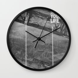 Do What Saves Your Life Wall Clock