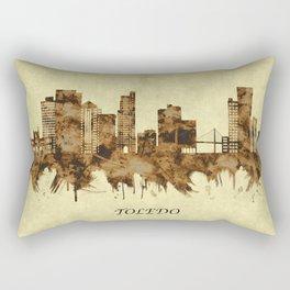 Toledo Ohio Cityscape Rectangular Pillow