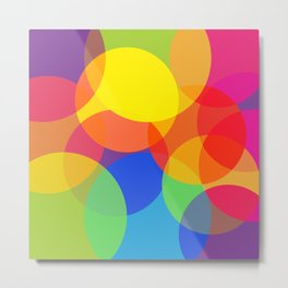 Abstract Colorful Round Lights Metal Print