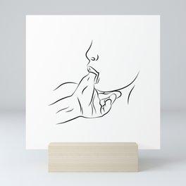 Woman Sucking Thumb Mini Art Print