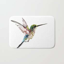 Hummingbird, bird art minimalist bird design hummingbird lover Bath Mat
