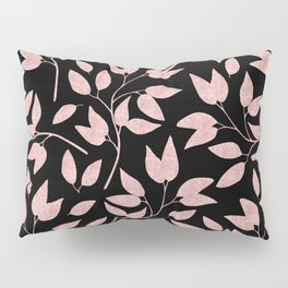 Elegant Rose Gold Leaves One Day or Day One, you decide typography Pillow Sham