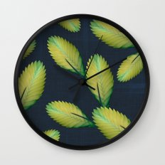 Tillandsia in dark blue Wall Clock
