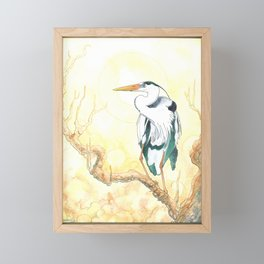 The Heron Framed Mini Art Print