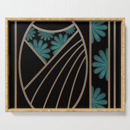 ART DECO FLOWERS (abstract) Serving Tray