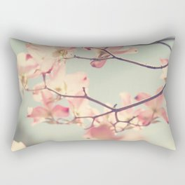 Pink Dogwood 1: Seen from below Rectangular Pillow