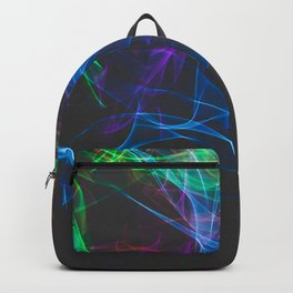 Smoke clouds of colors. Backpack