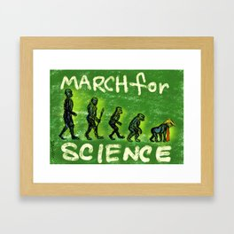 March For Science Framed Art Print