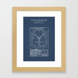 Fluc capacitor blueprint Framed Art Print