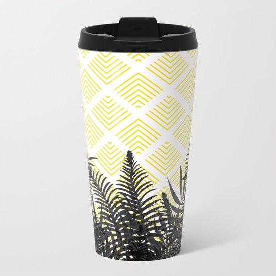 Tropical Ferns on Pattern #society6 #decor #buyart Metal Travel Mug