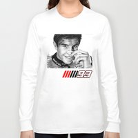 marc Long Sleeve T-shirts featuring The champ Marc Marquez by Mike Sarda