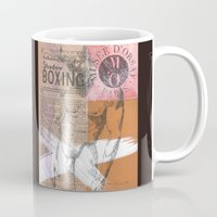 boxing Mugs featuring Shadow Boxing by Azure Cricket