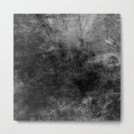 Grunge Gray Metal Print