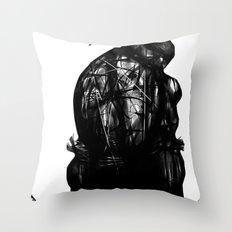 leonardo black and white Throw Pillow