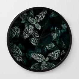 Dark Leaves 3 Wall Clock