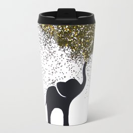 elephant w/ glitter Travel Mug