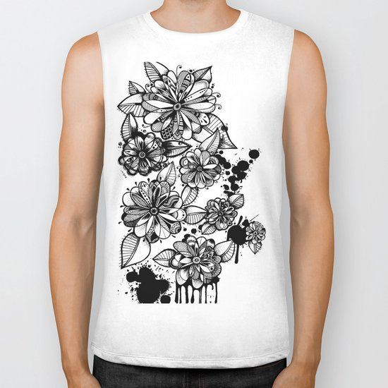 Blooms Biker Tank