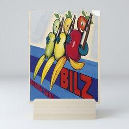 retro bilz   bebida sana. gouache maquette  Mini Art Print