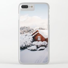 Snow cottage Clear iPhone Case