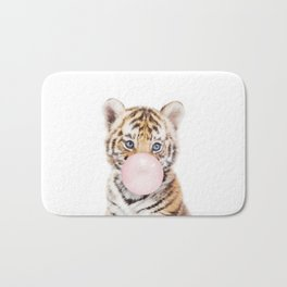 Bubble Gum Tiger Cub Bath Mat