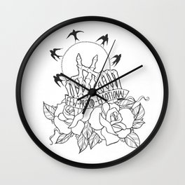 few, proud, emotional Wall Clock
