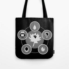 The Power Six - Minimalist Black Tote Bag