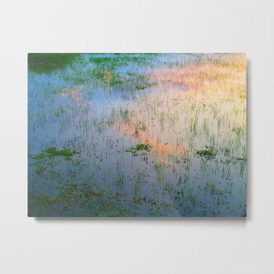Reflection #Sky #Water Metal Print