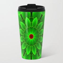 Mandala Green Travel Mug