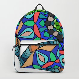 Zentangl round ornament Backpack