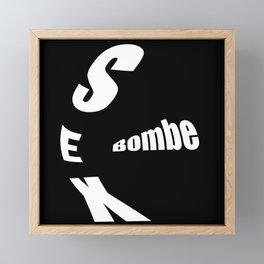 sex bombe Framed Mini Art Print
