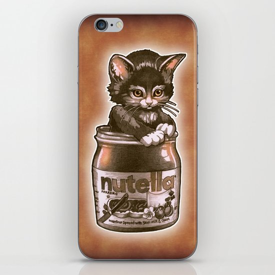 Kitten Loves Nutella iPhone & iPod Skin