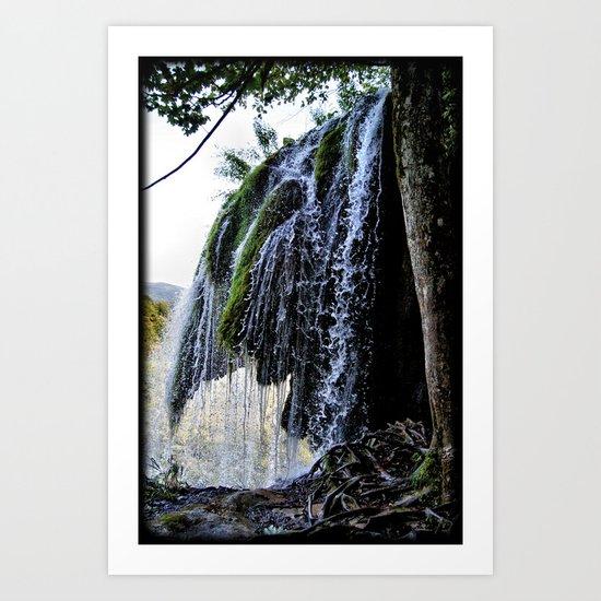 Waterfall Explore Art Print
