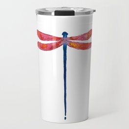 Dragonfly art illustration Travel Mug
