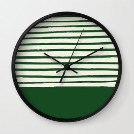Holiday x Green Stripes Wall Clock