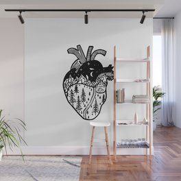 Heart in the Mountains Wall Mural