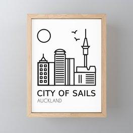 Auckland City of Sails New Zealand Framed Mini Art Print