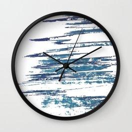 Streaky Blue Water Wall Clock