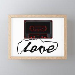 Unwound Love Audio Cassette Framed Mini Art Print