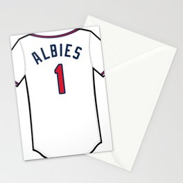 Ozzie Albies Jersey Stationery Cards