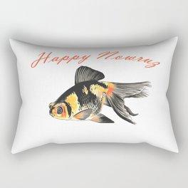 Happy Nowruz Demekin Goldfish Persian New Year Rectangular Pillow