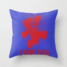 Mario Boss Throw Pillow