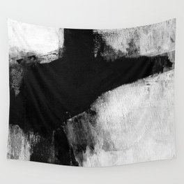 Black and White Minimalist Landscape Wall Tapestry