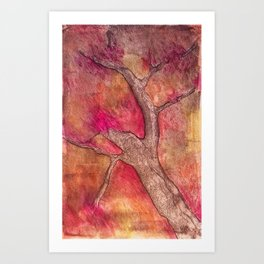 Tree of color Art Print