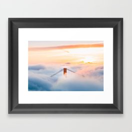 Golden Gate Bridge at Sunrise from Hawk Hill - San Francisco, California Framed Art Print