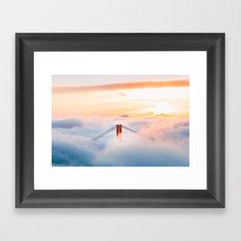 Golden Gate Bridge at Sunrise from Hawk Hill - San Francisco, California Framed Art Print