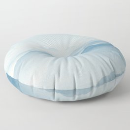 Blue mountain Floor Pillow